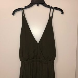 Lulus Olive Green Maxi Dress - Worn Once!